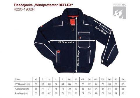 Fleecejacke Windprotector REFLEX