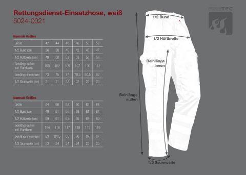 Rettungsdienst-Einsatzhose, weiß
