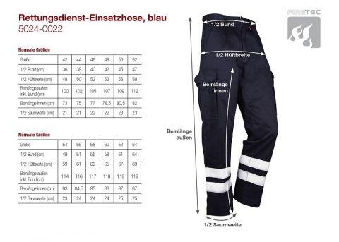 Rettungsdienst-Einsatzhose, blau