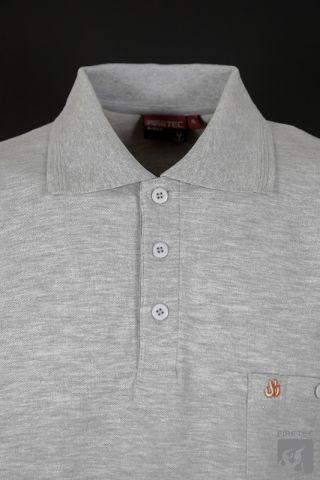 Polo-Shirt hellgrau meliert 1/2  Arm