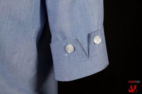 Business-Bluse fil á fil 1/2 Arm