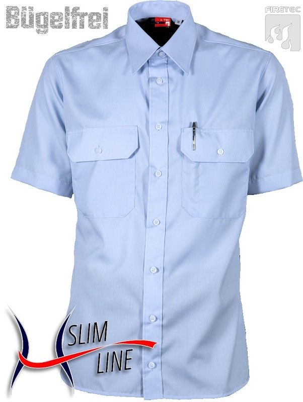 Diensthemd SLIM, Fb. Imperialblau, 1/2-Arm