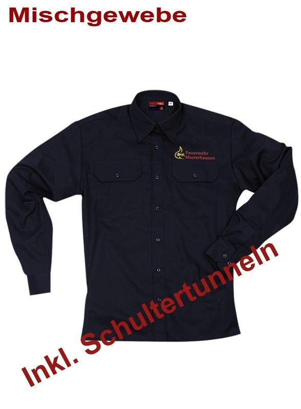 Diensthemd, 1/1 Arm Baden-Württemberg m. Stick Ortsname