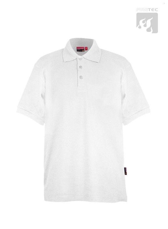 Polo-Shirt weiß 1/2 Arm ohne Brusttasche