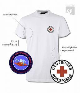 """T-Shirt """"Fire-Tec"""" 1/2 Arm, weiss"""