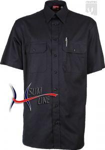 Diensthemd SLIM, Fb. Schwarzblau, 1/2-Arm