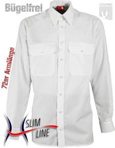 Diensthemd SLIM, 72er Arm, Fb. Weiß