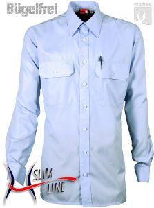 """Diensthemd """"SLIM"""", Fb. Imperialblau, 1/1-Arm"""