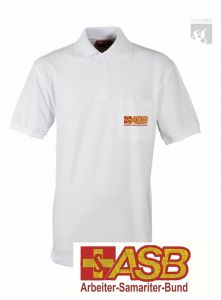 ASB Polo-Shirt weiß 1/2 Arm