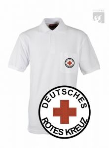 DRK Polo-Shirt weiß 1/2 Arm