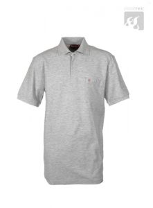 Polo-Shirt hellgrau meliert 1/2  Arm