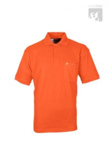 Polo-Shirt orange 1/2  Arm