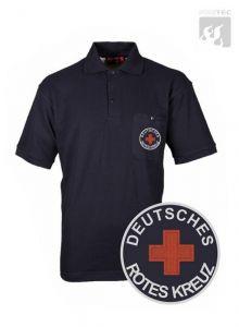 DRK Polo-Shirt schwarzblau 1/2 Arm