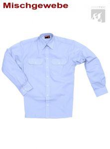 Diensthemd, 1/1 Arm  imperialblau