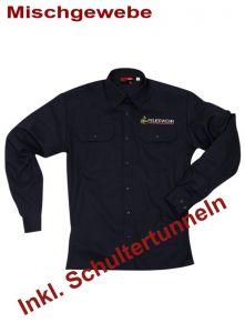 Diensthemd, 1/1 Arm Baden-Württemberg m. Stick Signet