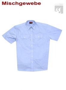 Diensthemd, 1/2 Arm  imperialblau