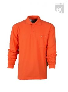 Polo-Shirt orange 1/1  Arm