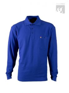 Polo-Shirt royal 1/1 Arm
